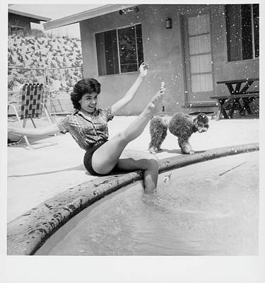 Dog Swimming Wall Art - Photograph - Annette Funicello by Pictorial Parade