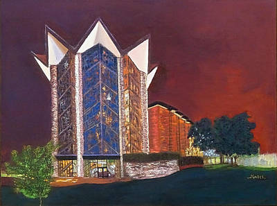 Painting - Anniversary Chapel by Laura Gabel