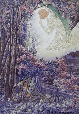 Drawing - Annunciation by Carlos Schwabe