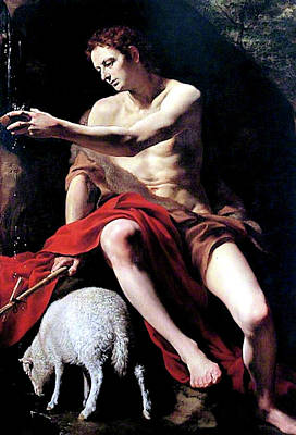 Painting - Anonymous Saint John The Baptist by Troy Caperton
