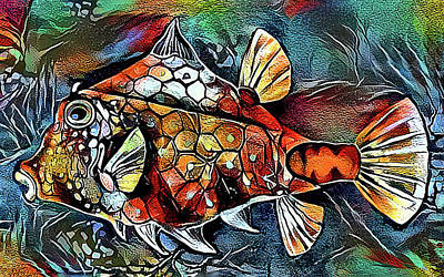 Digital Art - Funky Fish Too by HH Photography of Florida