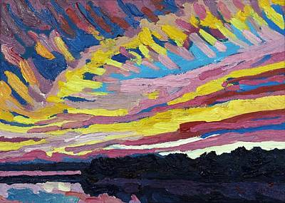 Painting - Another Sunset Revolution by Phil Chadwick