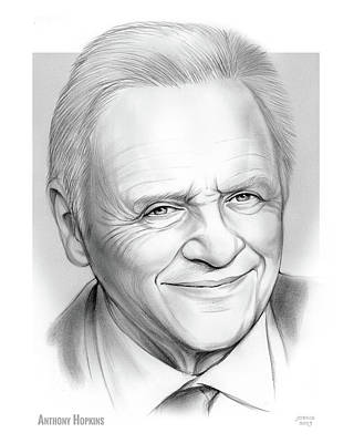 Drawing - Anthony Hopkins  by Greg Joens