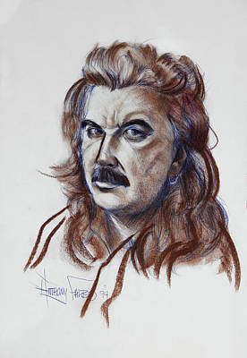 Drawing - Anthony R Falbo Self Portrait 1994 by Anthony Falbo