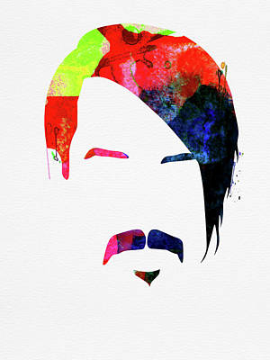 Red Hot Chili Peppers Wall Art - Mixed Media - Anthony Watercolor by Naxart Studio