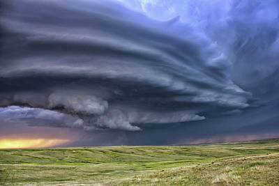 Anticyclonic Supercell Thunderstorm Art Print by Jason Persoff Stormdoctor