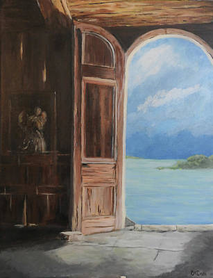 Painting - Antigua Dream Door by Deborah Smith