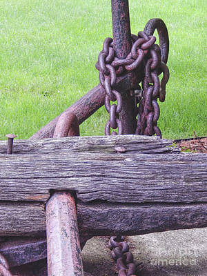Photograph - Antique Anchor by Phil Perkins