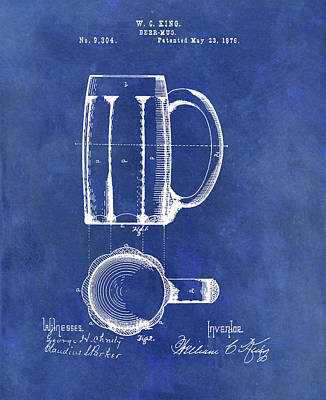 Drawing - Antique Beer Mug Design by Dan Sproul