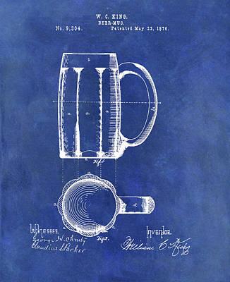 Beer Drawings - Antique Beer Mug Design by Dan Sproul
