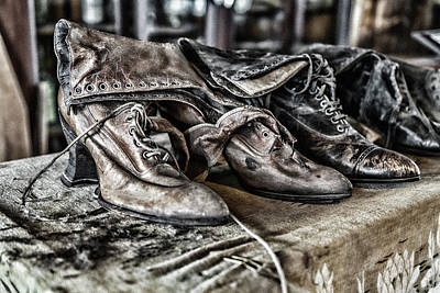 Photograph - Antique Boots by Sharon Popek