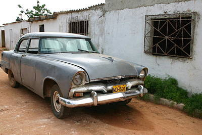 Photograph - Antique Car Grey Cuba 11300501 by Rick Veldman