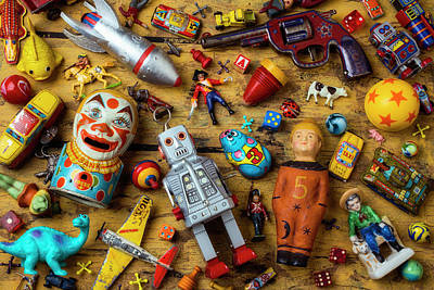 Photograph - Antique Childerens Toys by Garry Gay
