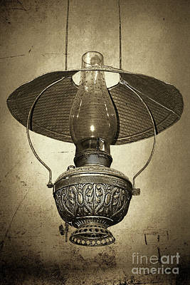 Photograph - Antique Oil Lantern By Kaye Menner by Kaye Menner