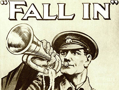 Drawing - Antique Recruitment Poster For The British Army During World War One by English School