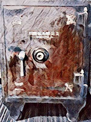 Photograph - Antique Safe by Kimberly Woyak