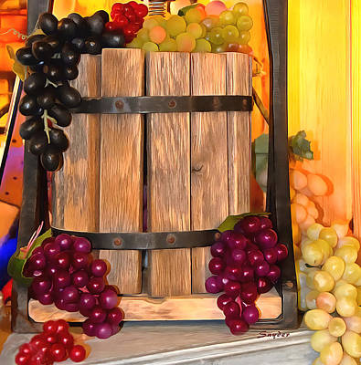 Painting - Antique Store Wine Press Small by Barbara Snyder
