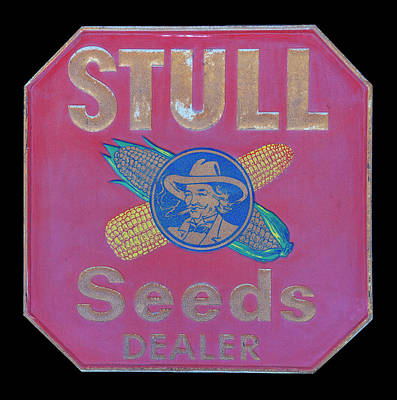 Royalty-Free and Rights-Managed Images - Antique Stull Seeds dealer sign by Chris Flees