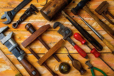 Photograph - Antique Tools by Garry Gay