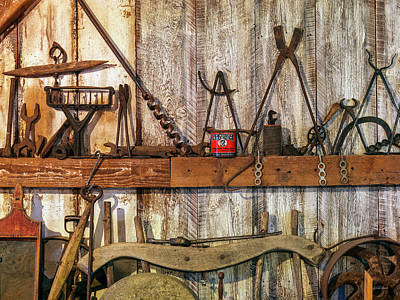 Photograph - Antique Tools by Leland D Howard