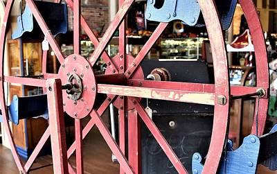 Photograph - Antique Toy Ferris Wheel by Kim Bemis