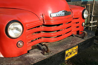 Photograph - Antique Truck Red Cuba 11300502 by Rick Veldman