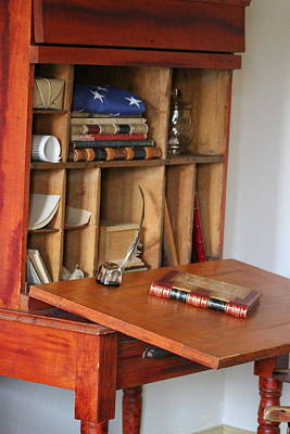 Photograph - Antique Writer's Desk by Colleen Cornelius