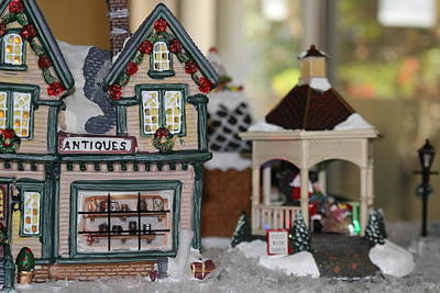 Antiques In Christmas Town Art Print
