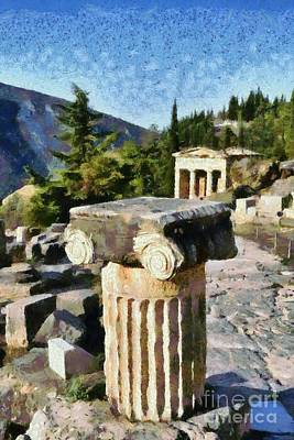 Painting - Antiquities In Delphi I by George Atsametakis