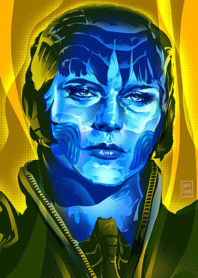 Comics Royalty-Free and Rights-Managed Images - Antje Traue_Faora U from The Man of Steel by Garth Glazier