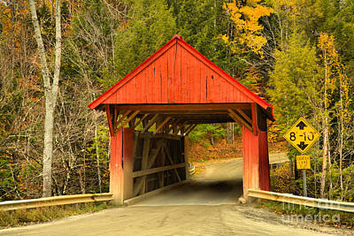 Photograph - Autumn Colors At The Red Covered Bridge by Adam Jewell