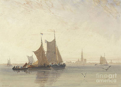 Painting - Antwerp, Morning, 1832 by David Cox