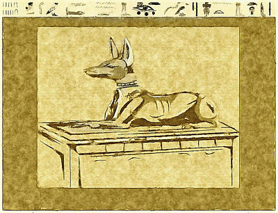 Comic Character Paintings - Anubis by Mario Carini