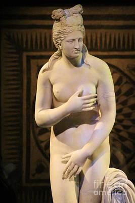 Photograph - Aphrodite Marble Statue Pompeii 1 Century Ad by Colleen Cornelius