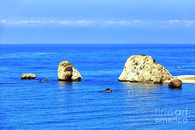 Photograph - Aphrodite's Rocks In Cyprus by John Rizzuto