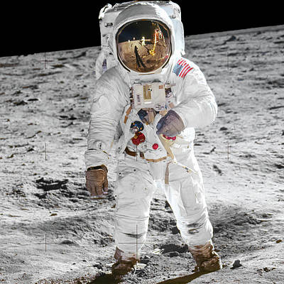 Urban Abstracts Royalty Free Images - Apollo 11 - Buzz Aldrin Closeup Royalty-Free Image by Nasa