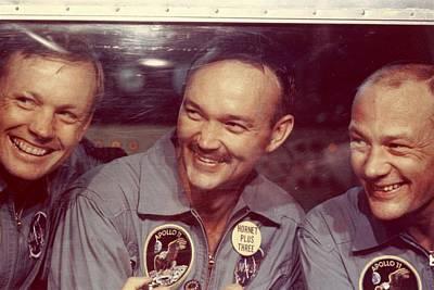 Photograph - Apollo 11 Crew by Mpi