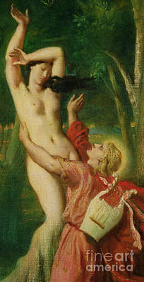 Painting - Apollo And Daphne, Circa 1845 by Theodore Chasseriau