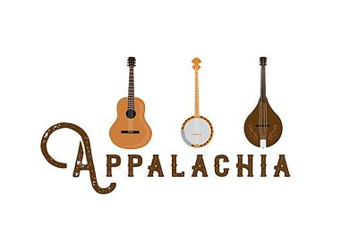 Digital Art - Appalachia Mountain Music White Mountains by Heather Applegate