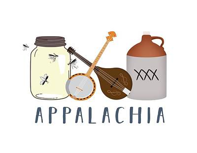 Digital Art - Appalachia Music by Heather Applegate