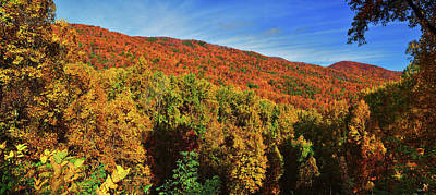 Photograph - Appalachian Autumn Panorama by Greg Norrell