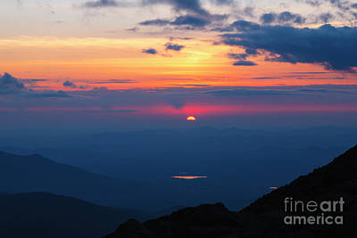 Photograph - Appalachian Trail, New Hampshire Sunset by Erin Paul Donovan