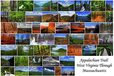 Photograph - Appalachian Trail West Virginia Through Massachusetts by Raymond Salani III
