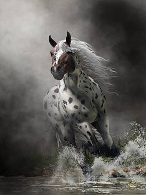 Digital Art - Appaloosa by Daniel Eskridge
