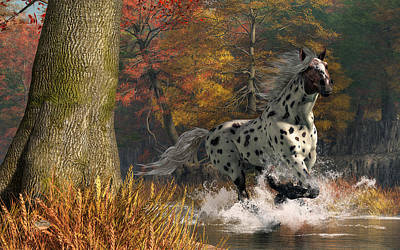 Digital Art - Appaloosa River by Daniel Eskridge