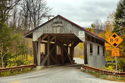 Photograph - Approaching The Power House Covered Bridge by Adam Jewell