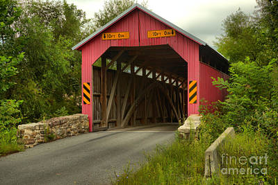 Photograph - Approaching The Saville Covered Bridge by Adam Jewell