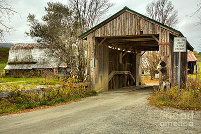 Photograph - Approaching The Scribner Covered Bridge by Adam Jewell