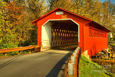 Photograph - Approaching The Silk Covered Bridge by Adam Jewell