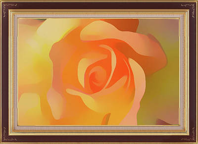 Mixed Media - Apricot Desert Rose Framed by Clive Littin